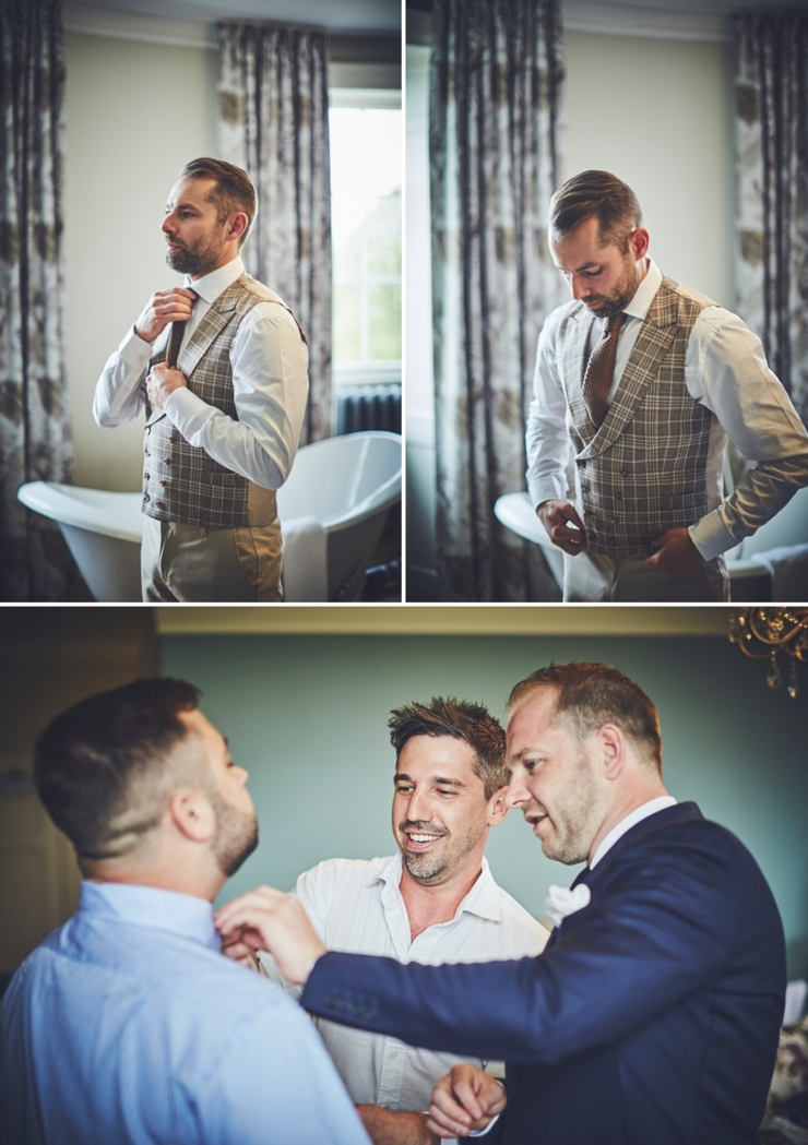 grooms style preps at Rockbeare Manor wedding Devon