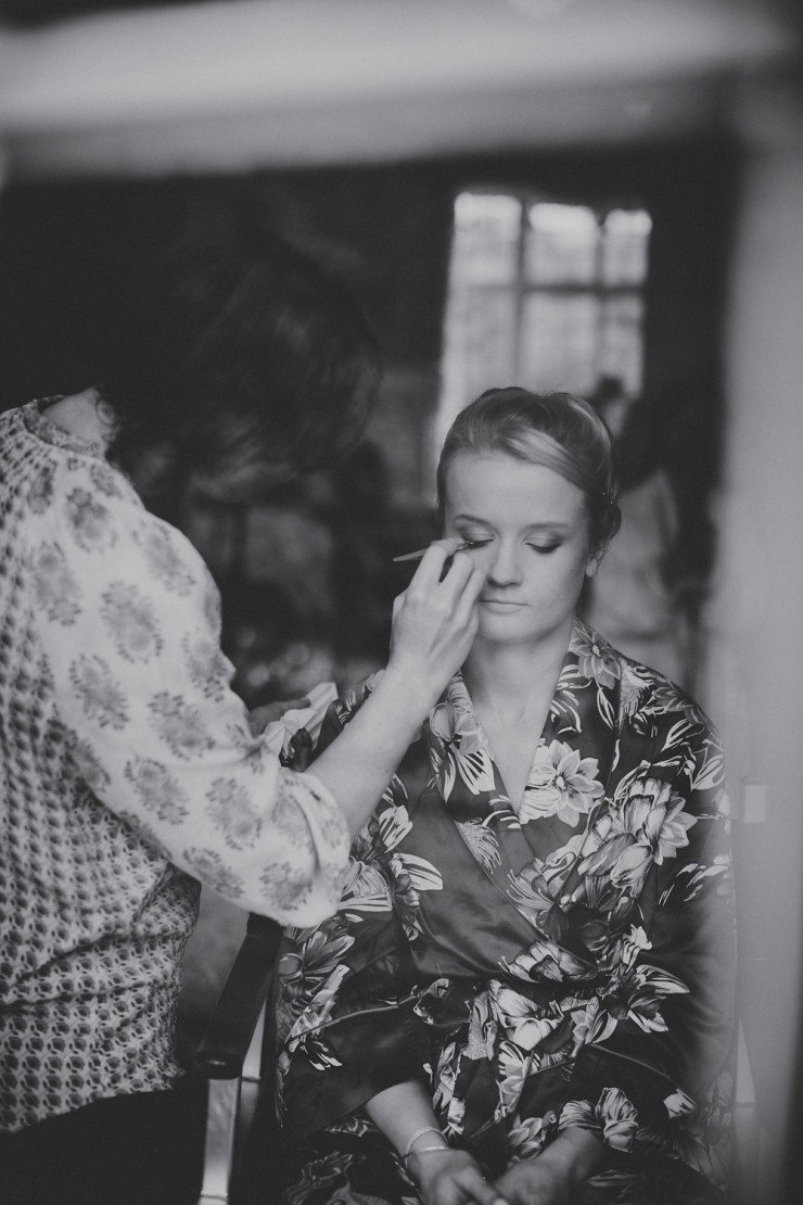 bride getting ready at Hotel Endsleigh