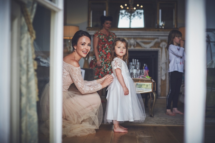 bride getting ready at Rockbeare Manor wedding Devon