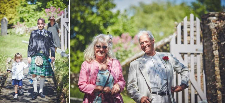 relaxed photography of a marquee  country wedding in Devon