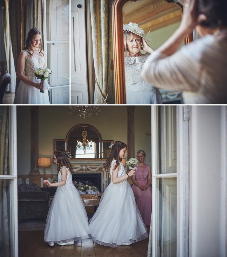 brides preps at a relaxed summer wedding photography at rockbeare manor in devon