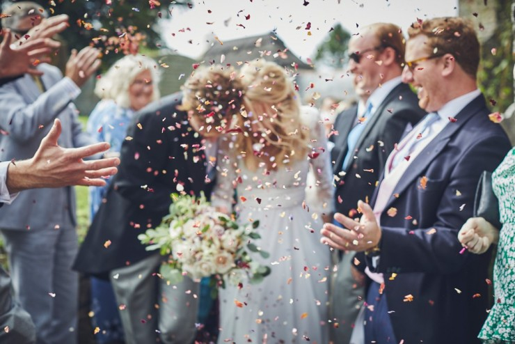 relaxed wedding photographer from devon takes wedding photo