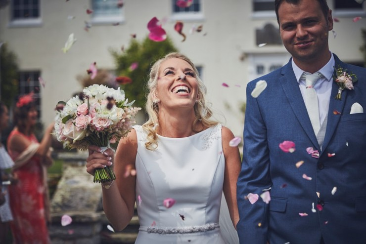 documentary wedding photography from team of two in devon at Rockbeare manor in Exeter