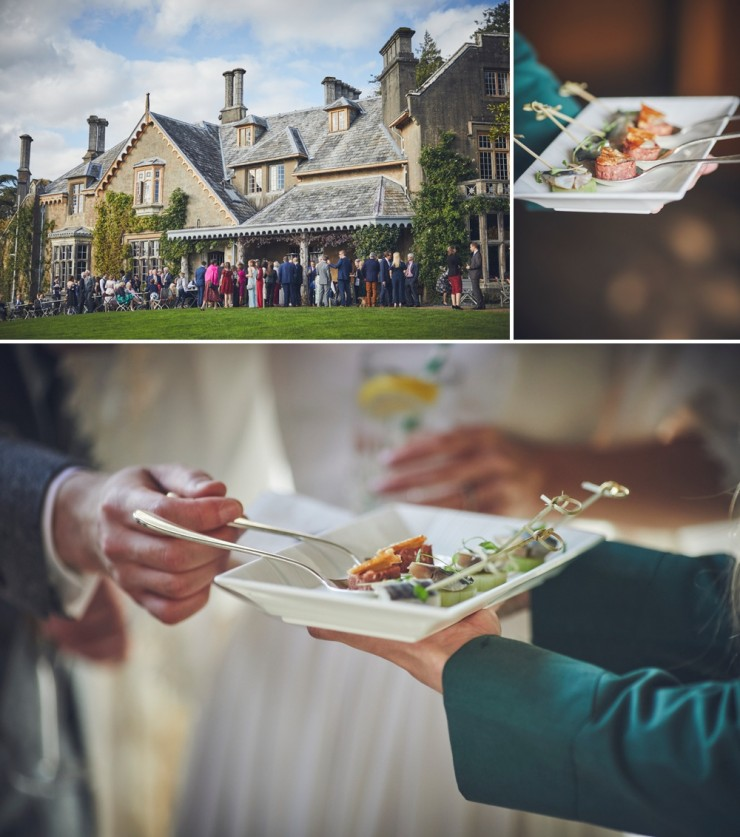 beautiful contemporary wedding photography of bride and groom at their Autumn wedding at Hotel Endsleigh in Devon