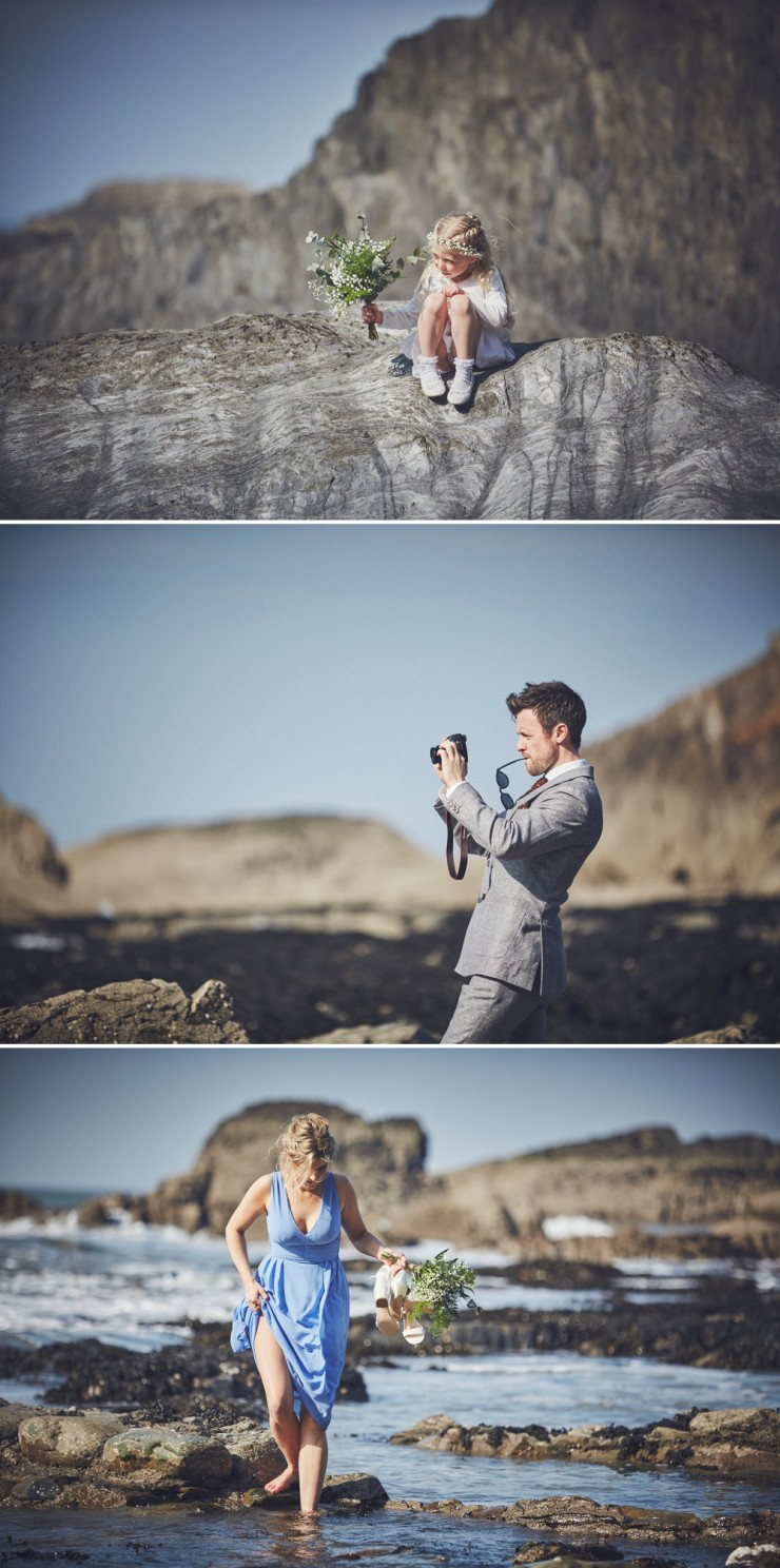 bride preps summer wedding photography at tunnels beaches in devon