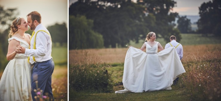 golden hour at Rockbeare manor wedding photography