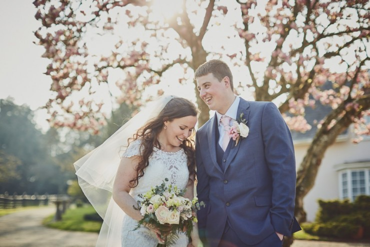 spring wedding photography at upton barn and walled garden devon