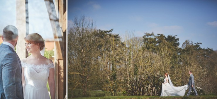 documentary wedding photography from team of two in at upton barn and walled garden