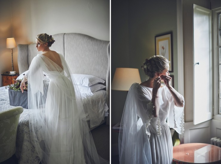candid photography of bridal preparations at Hotel Endsleigh in Devon