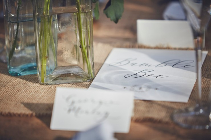 relaxed photography of a marquee country wedding styling at Fingals in Devon