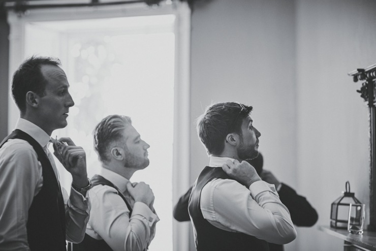 grooms preps photography at rockbeare manor wedding in Devon