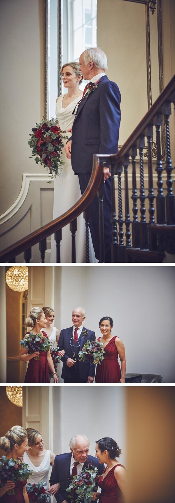 documentary wedding photography of ceremony at Rockbeare Manor Devon