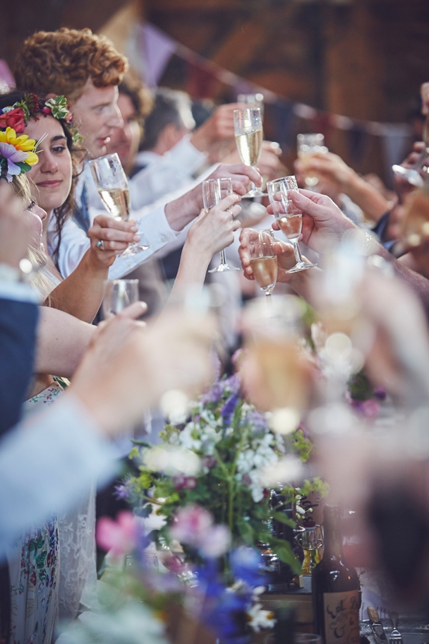 creative and relaxed wedding photography of boho festival wedding in Dorset