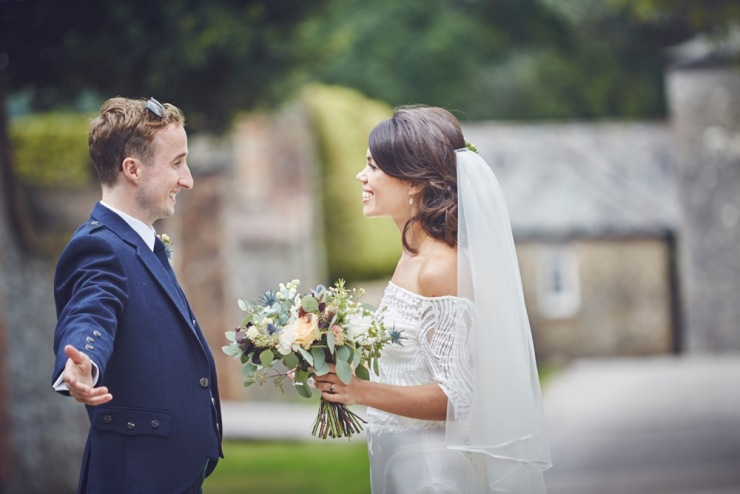 candid relaxed wedding photography at Kingston Estate Devon