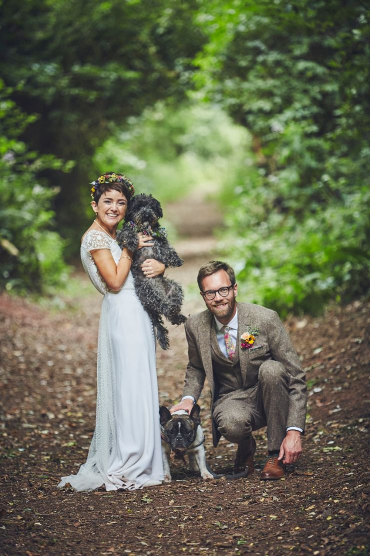 bride and groom portrait photography at West Town Farm barn wedding in devon
