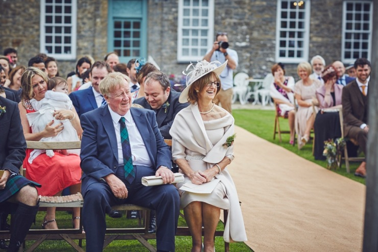 candid photography of wedding ceremony at Kingston Estate wedding in Devon