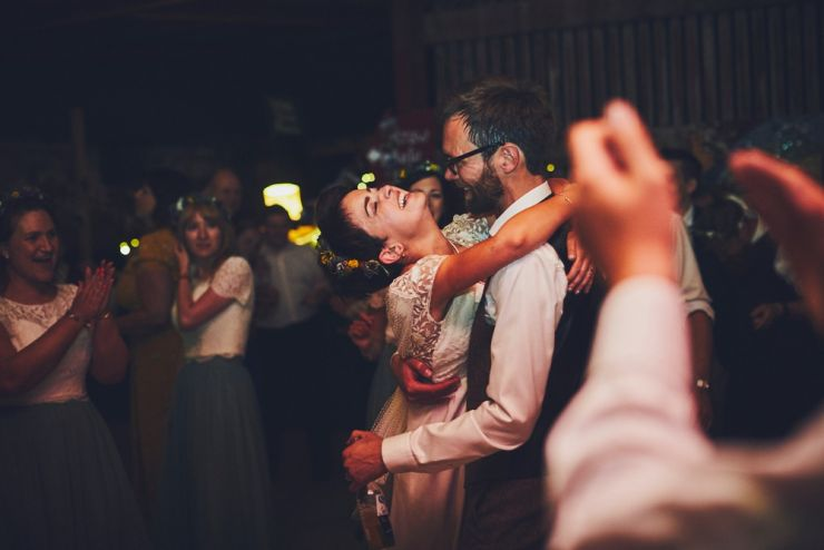 wedding couple dancing at West Town Farm